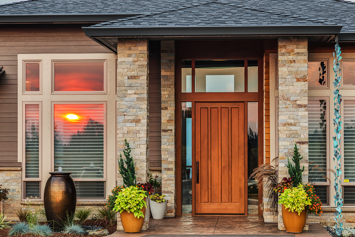 Front entry of beautiful home
